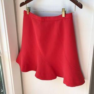 J. Crew Red Mini Skirt
